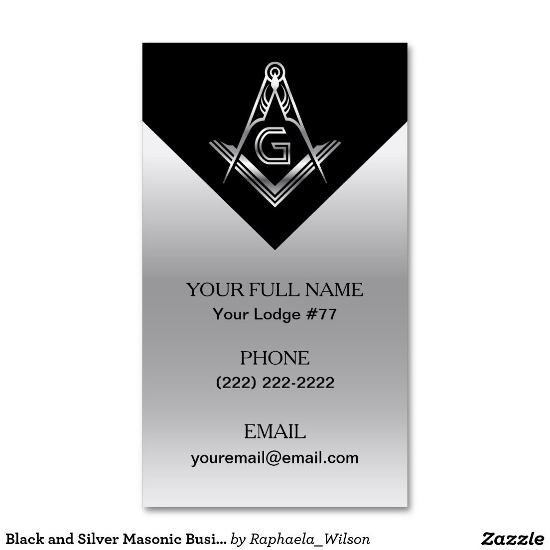 Navy blue gold masonic business cards freemason custom masonic black and silver masonic business card template colourmoves
