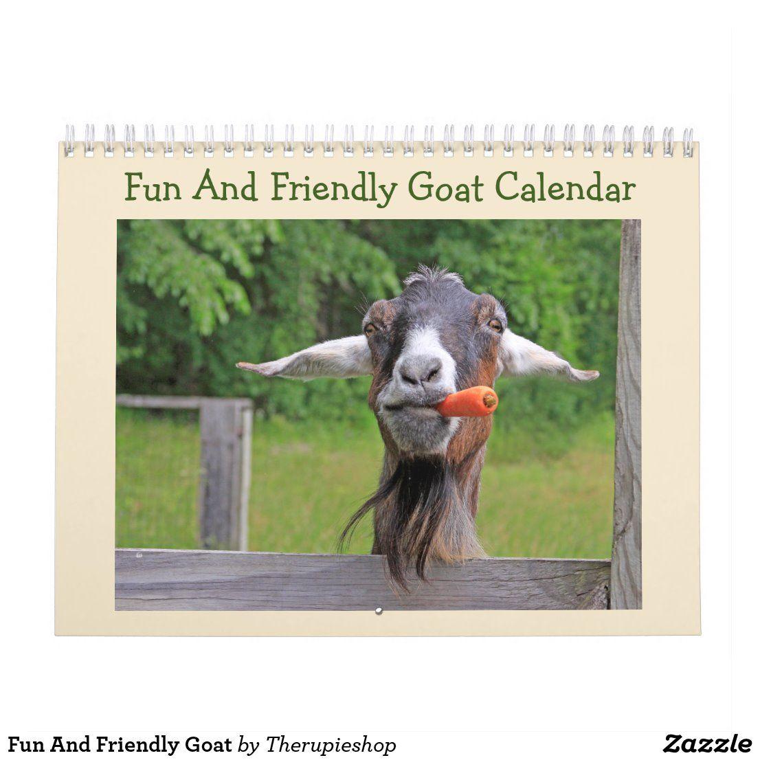 Fun and friendly goat calendar goats funny