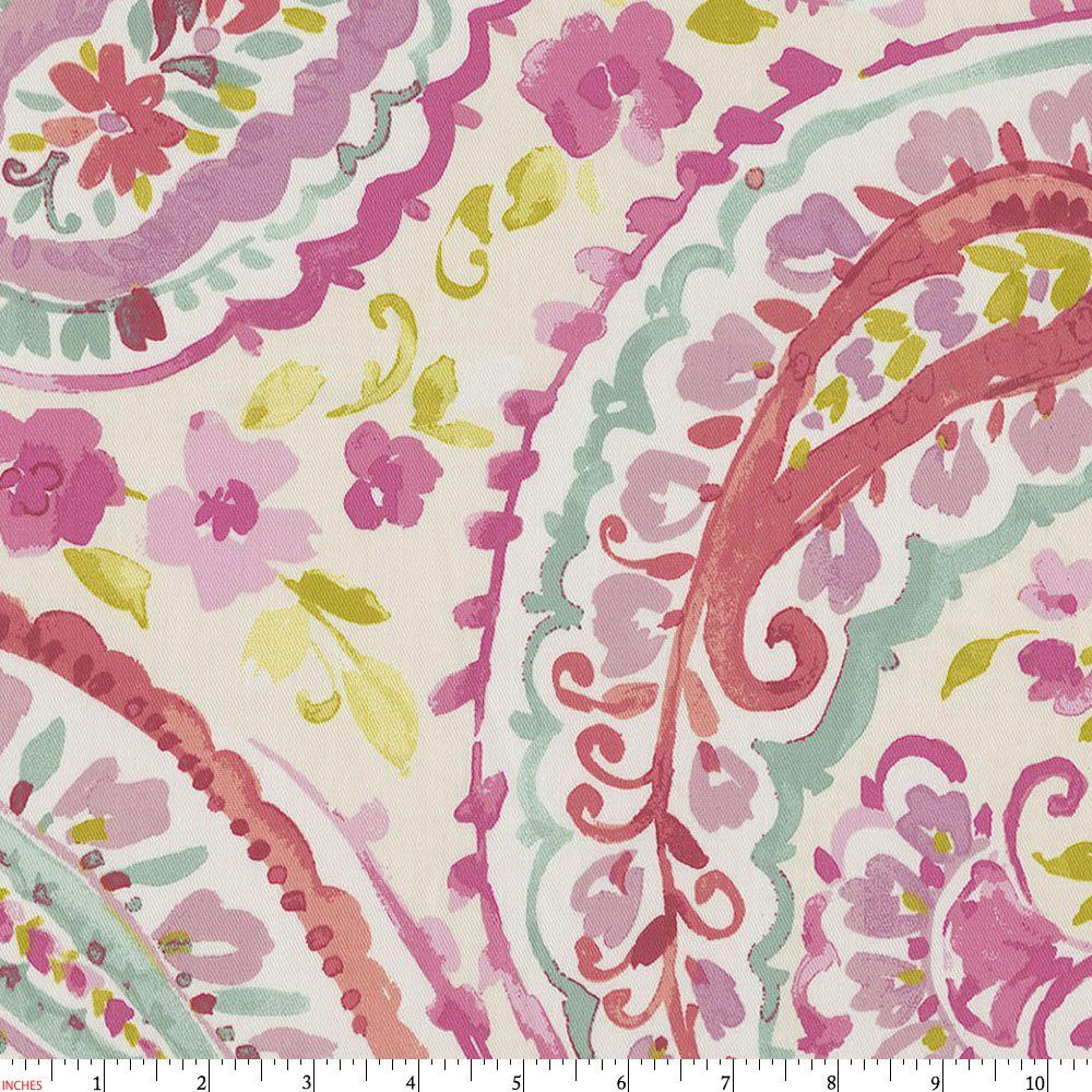 Watercolor Paisley Fabric