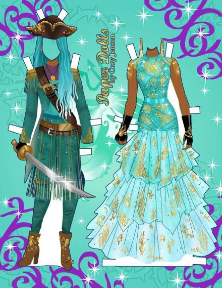 Printable Paper Doll Of Uma From Descendants 2 Paper