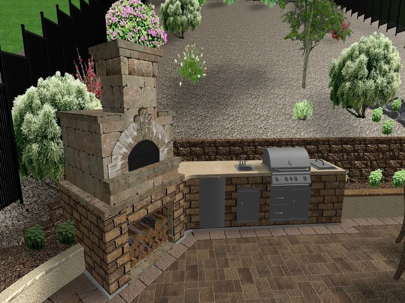 Outdoor corner fireplace designs new corner outdoor for Outdoor grill ideas plans