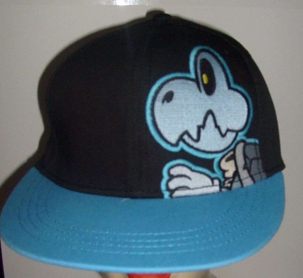f5364f9a SUPER MARIO DRY BONES ORIGINAL FITTED SMALL FLAT BILL HAT CAP SPENCER'S NEW  #SPENCERS #BaseballCap