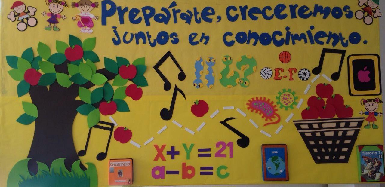 Peri dico mural regreso a clases creatividad mural for Puertas decoradas para regreso a clases