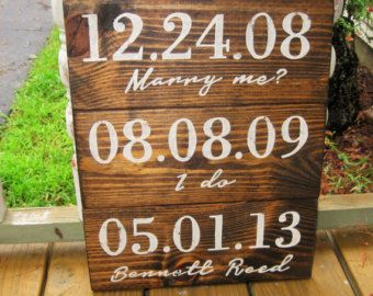 Distressed Wood Wall Decor special dates wood sign rustic wall decor distressed wood sign