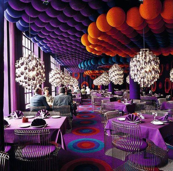 crazy restaurant ideas - Purple Cafe Ideas