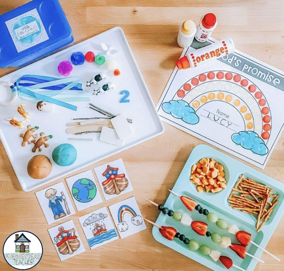 Bible Tot School BUNDLE: Plans, Printables, +… by The Homestead Teacher   T…
