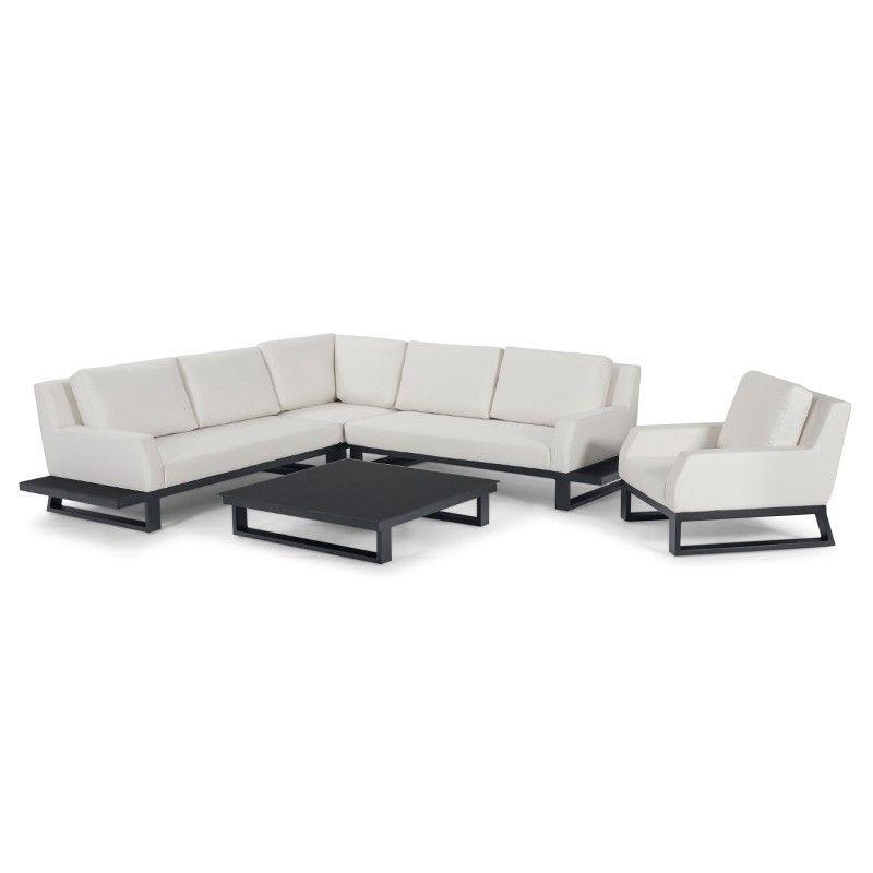 Fabulous Nova Noshiro Outdoor Fabric Corner Sofa Set Canvas Ncnpc Chair Design For Home Ncnpcorg