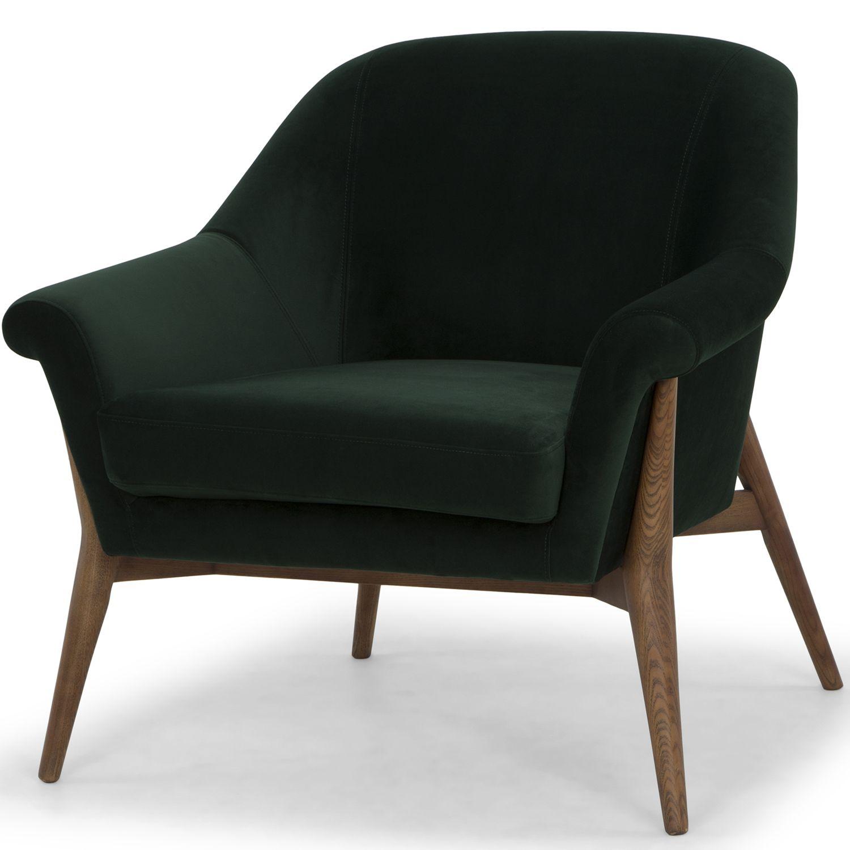 Nuevo Modern Furniture Hgsc179 Charlize Accent Chair Emerald Green