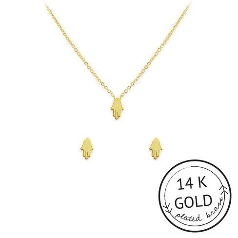 Talk to the Hamsa Necklace & Earring Set