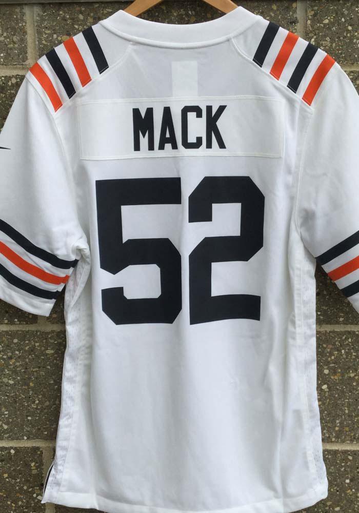 Khalil Mack Nike Chicago Bears Mens White 2019 Throwback Football Jersey 12555232 Chicago Shirts Chicago Bears T Shirts Football Jerseys