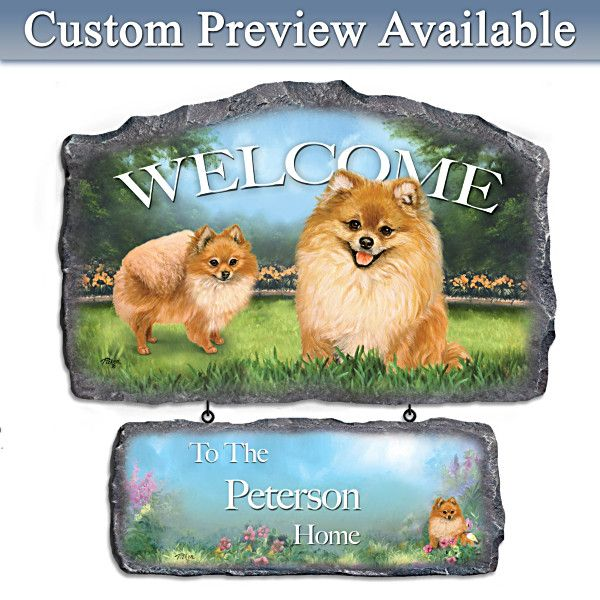 Lovable Pomeranians Personalized Wall Decor
