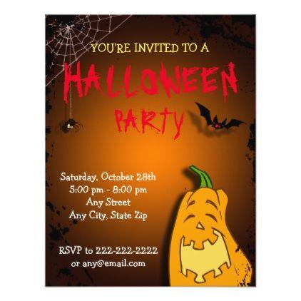 Karl Pumkin Halloweenbirthday Invite Pinterest Rsvp