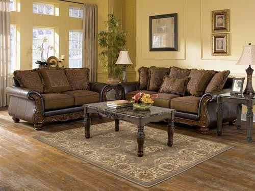 Rent Furniture Ashley Wilmington Walnut Sofa And Loveseat
