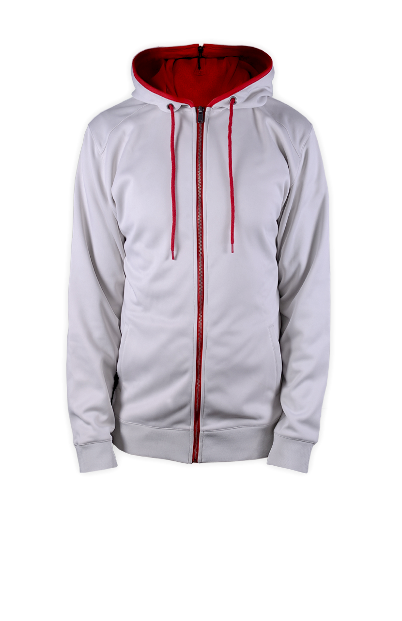 White And Red Hoodie - Trendy Clothes