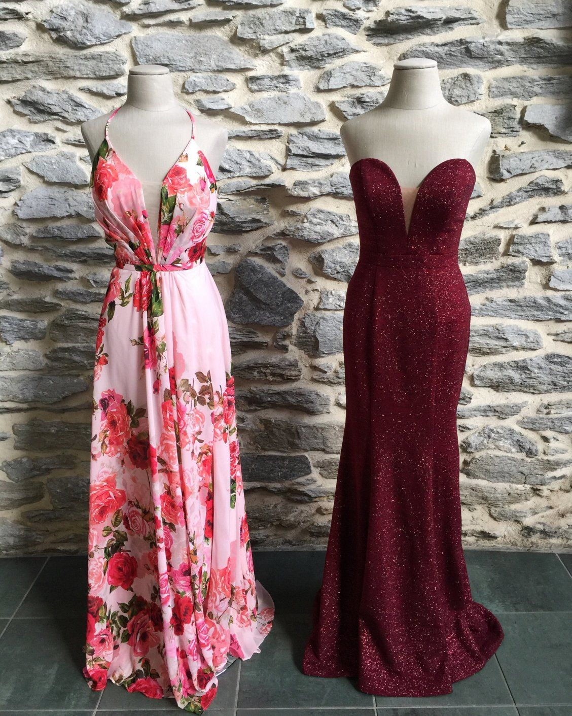 Choose your prom dress do you love this soft and flowy floral prom