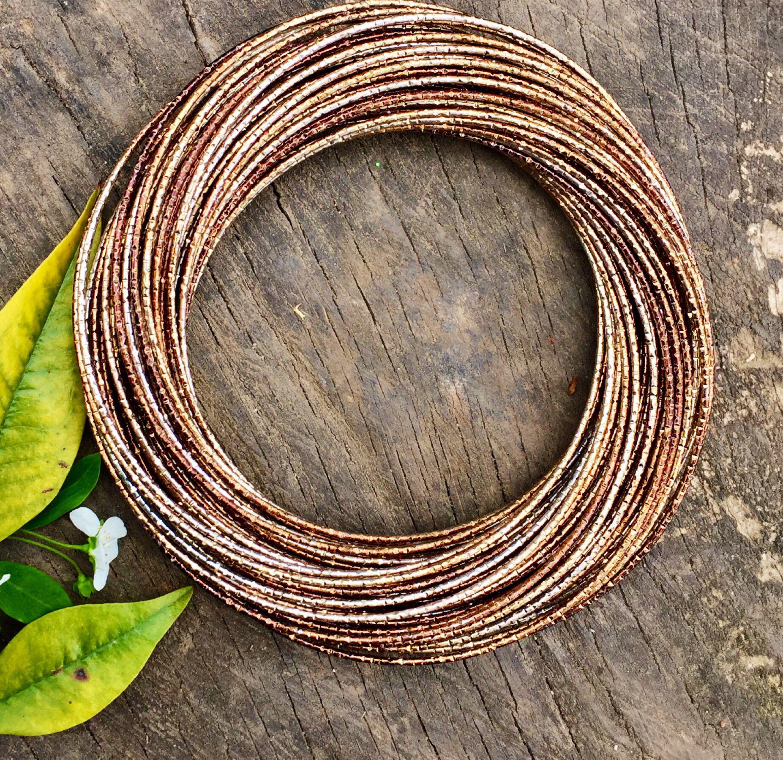 Gold boho bangle vintage bangle bohemian bangle ethnic bracelet