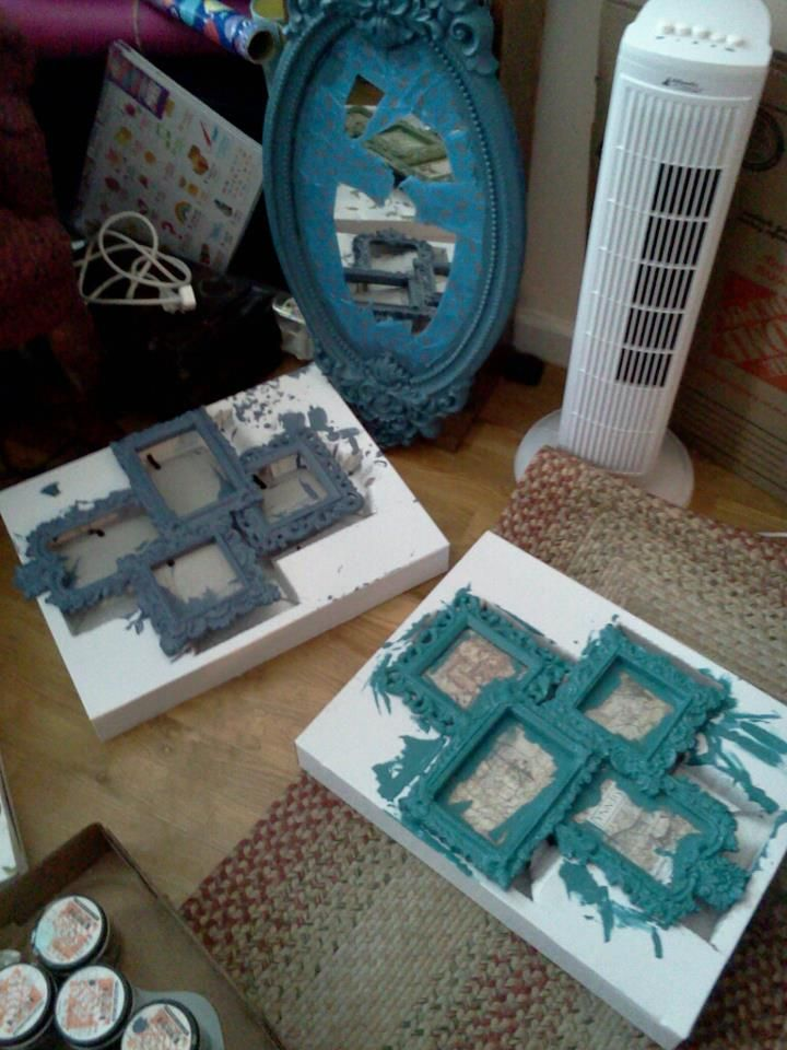 I Painted Picture Frames Found At Marshalls Home Goods And The Mirror On Craigslist Gallery Walls For Living Room Dining Bedroom To