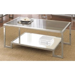 Superior Cordele Chrome And Glass Coffee Table
