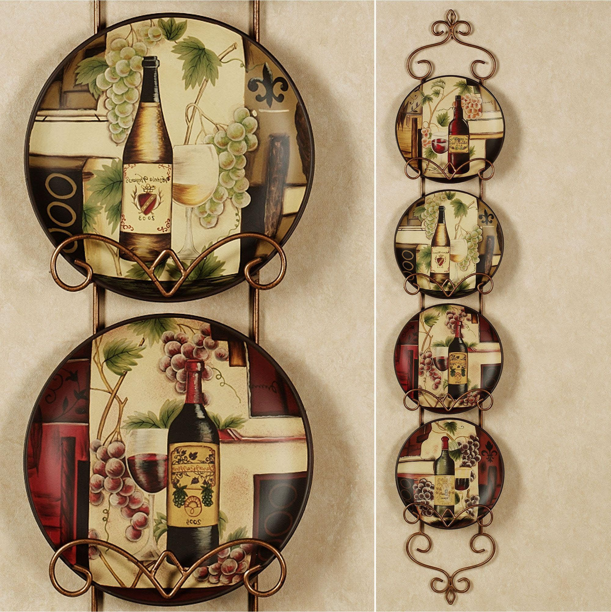 Decorative Plates For Kitchen Wall  Grape kitchen decor, Kitchen