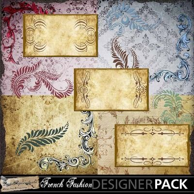 25% OFF! - French Ladies Element Set. Show your sense of style with this vintage set of papers and elements.