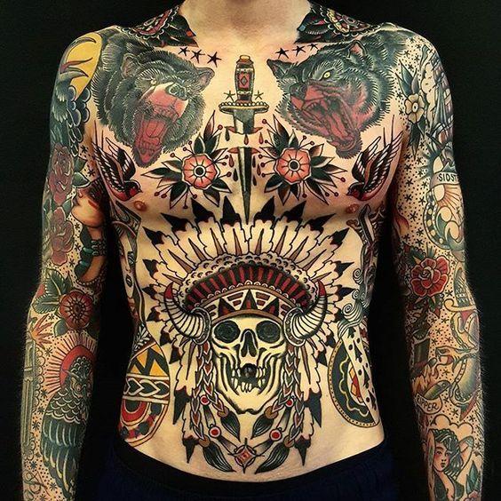 Tatuaje Americano Tradicional tatuaje americano tradicional pecho hombre | tatuajes | pinterest