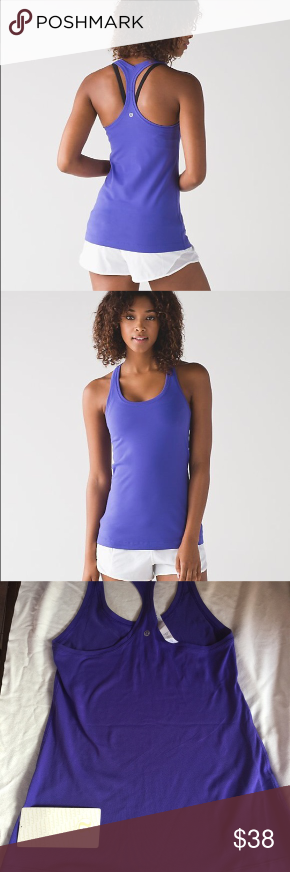 Lululemon racerback tank. NWTS. Size 10. Lululemon cool racerback ii tank. Size 10. NWTS. Color is purple. Cheaper on Ⓜ️ lululemon athletica Tops Tank Tops