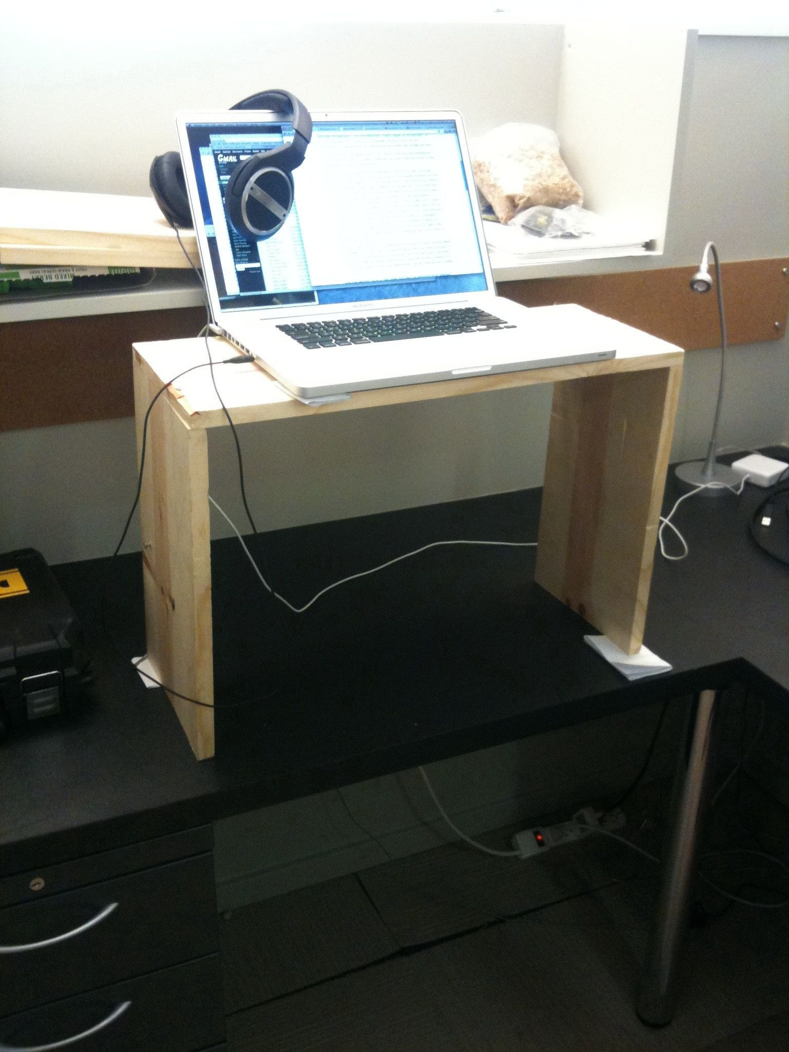 How To Modify Your Existing Desk To Make It A Standing Desk Diy Standing Desk Standing Desk Stand Up Desk