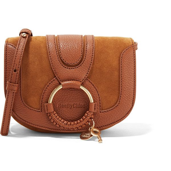 Hana Small Textured-leather And Suede Shoulder Bag - Tan See By Chlo 5jWXztm6