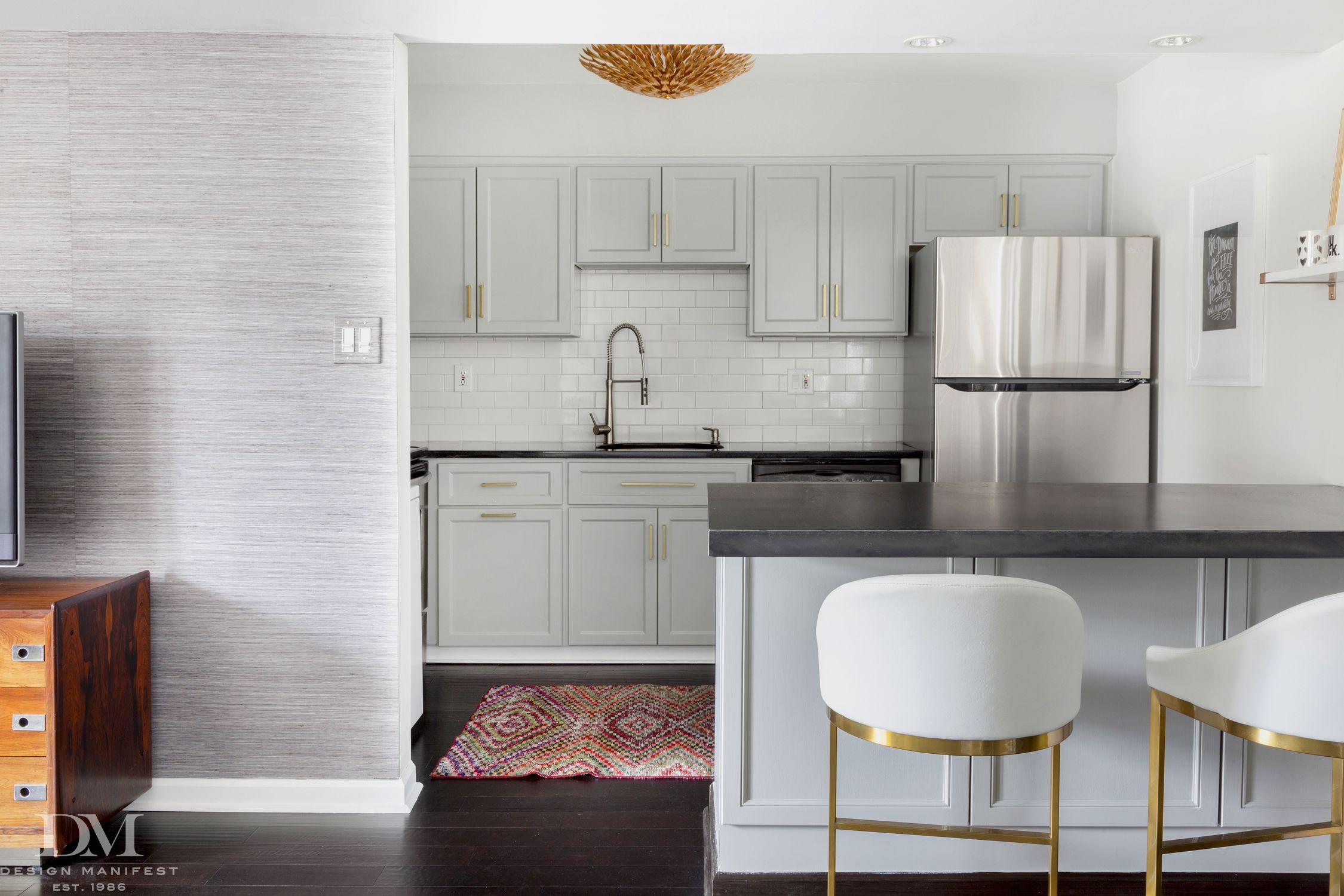 Condo Kitchen Makeover Coventry Gray Cabinet Benjamin