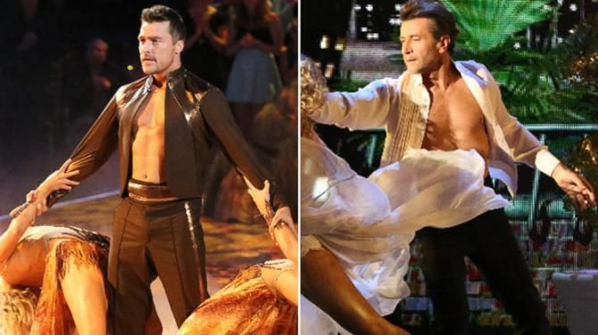 """""""The Bachelor's"""" Chris Soules and """"Shark Tank's"""" Robert Herjavec get booted from the Dancing with the Stars ballroom"""
