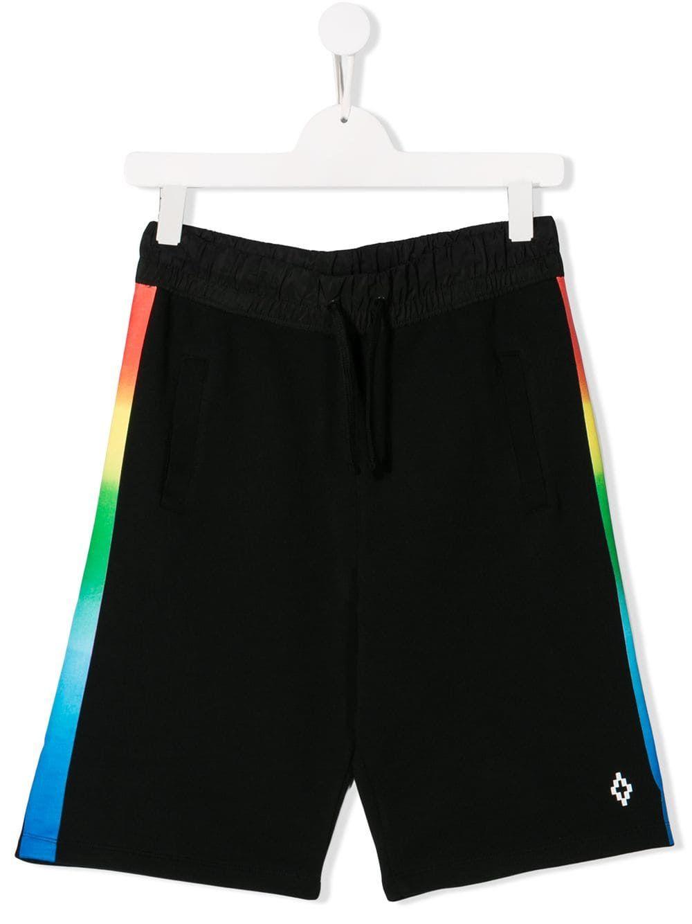 b5a11c269f Marcelo Burlon County Of Milan Kids TEEN rainbow gradient shorts - Black