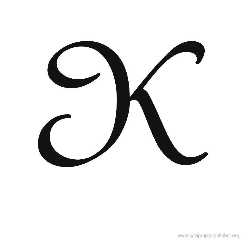Calligraphy Alphabet, Handwriting Styles