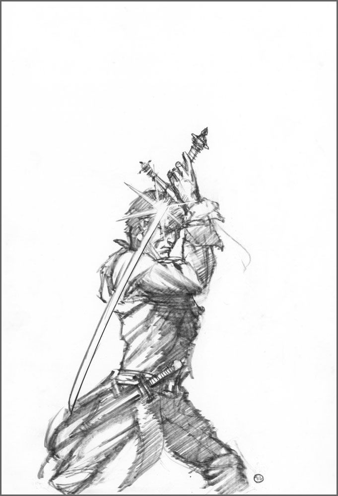 Michael Whelan (b.1950) — Rand Al'Thor Blademaster, 2012