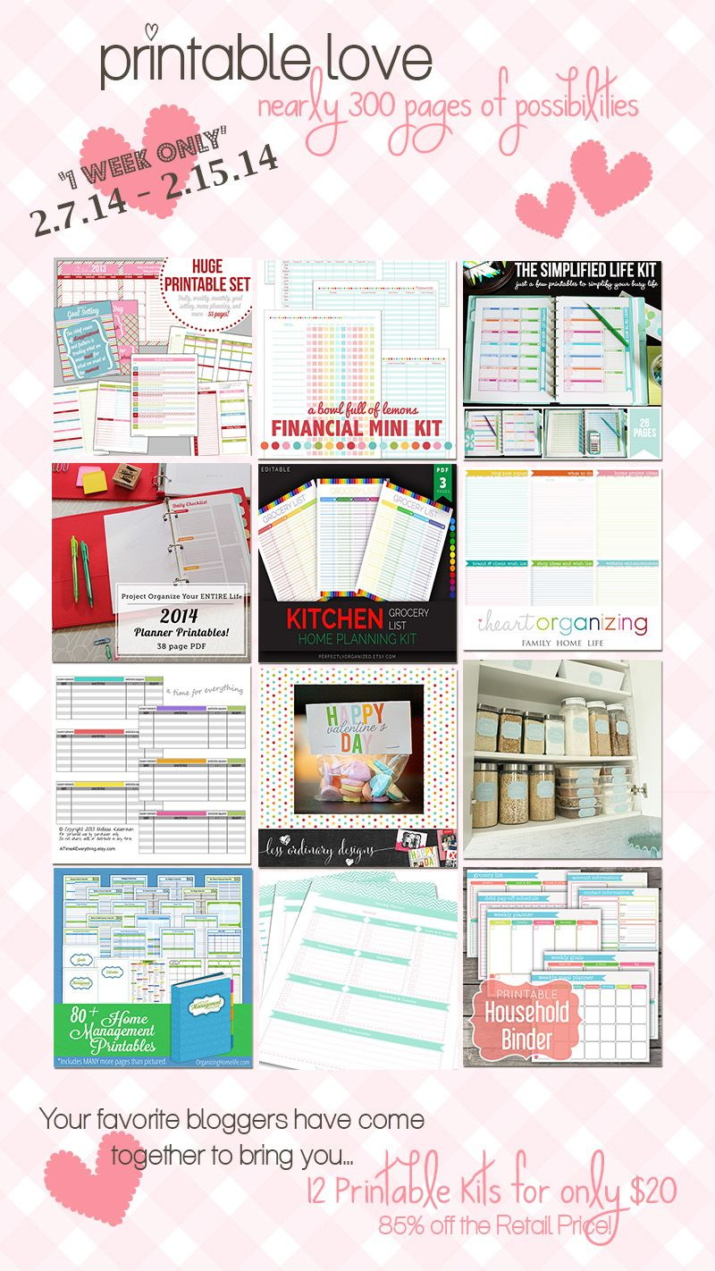 A HUGE collection of household organization printables - my favorites are the pantry labels, envelope budget system inserts, editable grocery lists and, of course, home management binder docs!