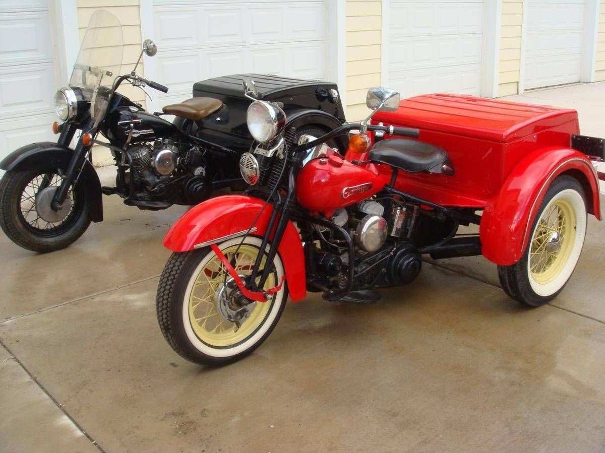1950 Harley Davidson Servicar Motorcycle Trike Trike