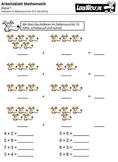 Übungen Mathe Klasse 1 kostenlos zum Download - lernwolf.de | schule ...