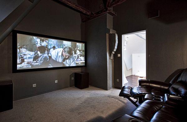 Modern And Futuristic Apartments Located In Sweden Home Design And Interior Salle De Cinema Maison Maison Cinema Maison