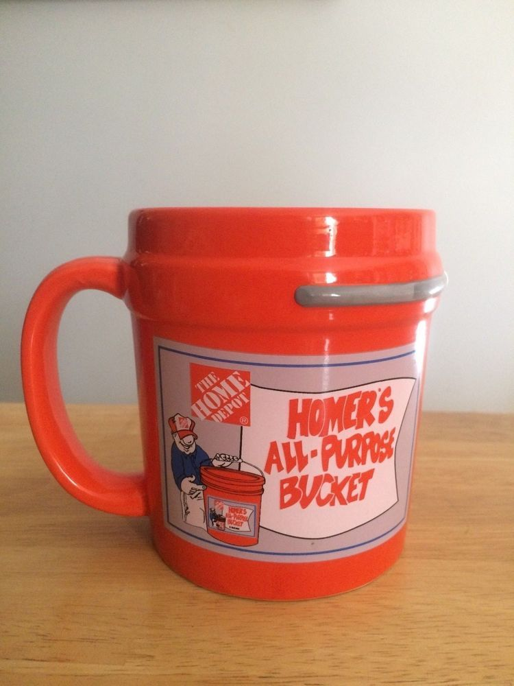 5a7d25921 The Home Depot Homer's All Purpose Bucket coffee mug for sale. Great  Christmas gift for people who are obsessed with The Home Depot!!