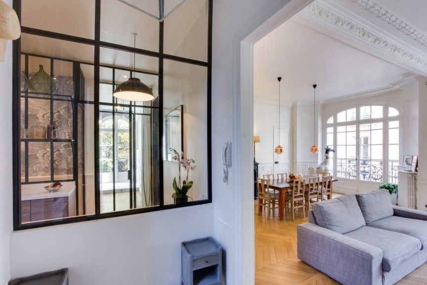 parete vetrata per dividere cucina e salotto parete di vetro | Idee ...