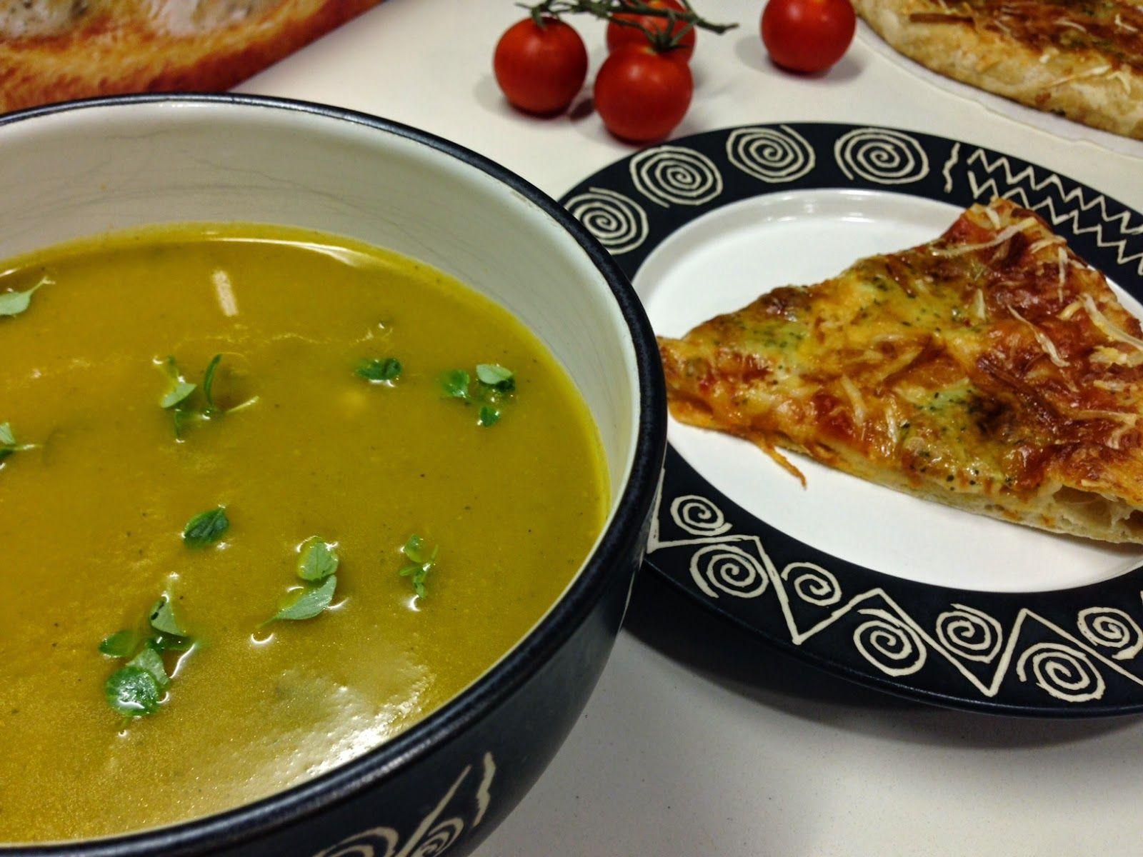 Salpicos Doces: Sopa de Beldroegas com Pizza Dr. Oetker 4 Queijos