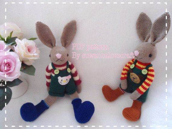 Sweet rabbit crochet pattern by suwannacraftshop on Etsy