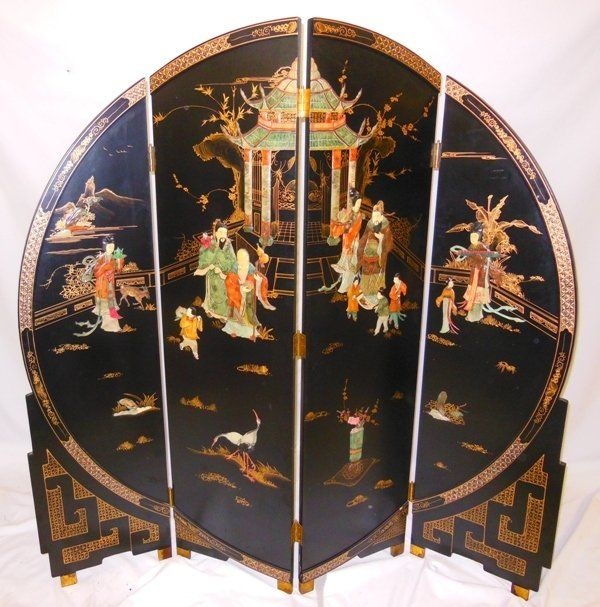 431 chinese lacquer screen on chinoiserie beautiful Art Deco Room Divider Screens Carved Wood Screen Room Divider