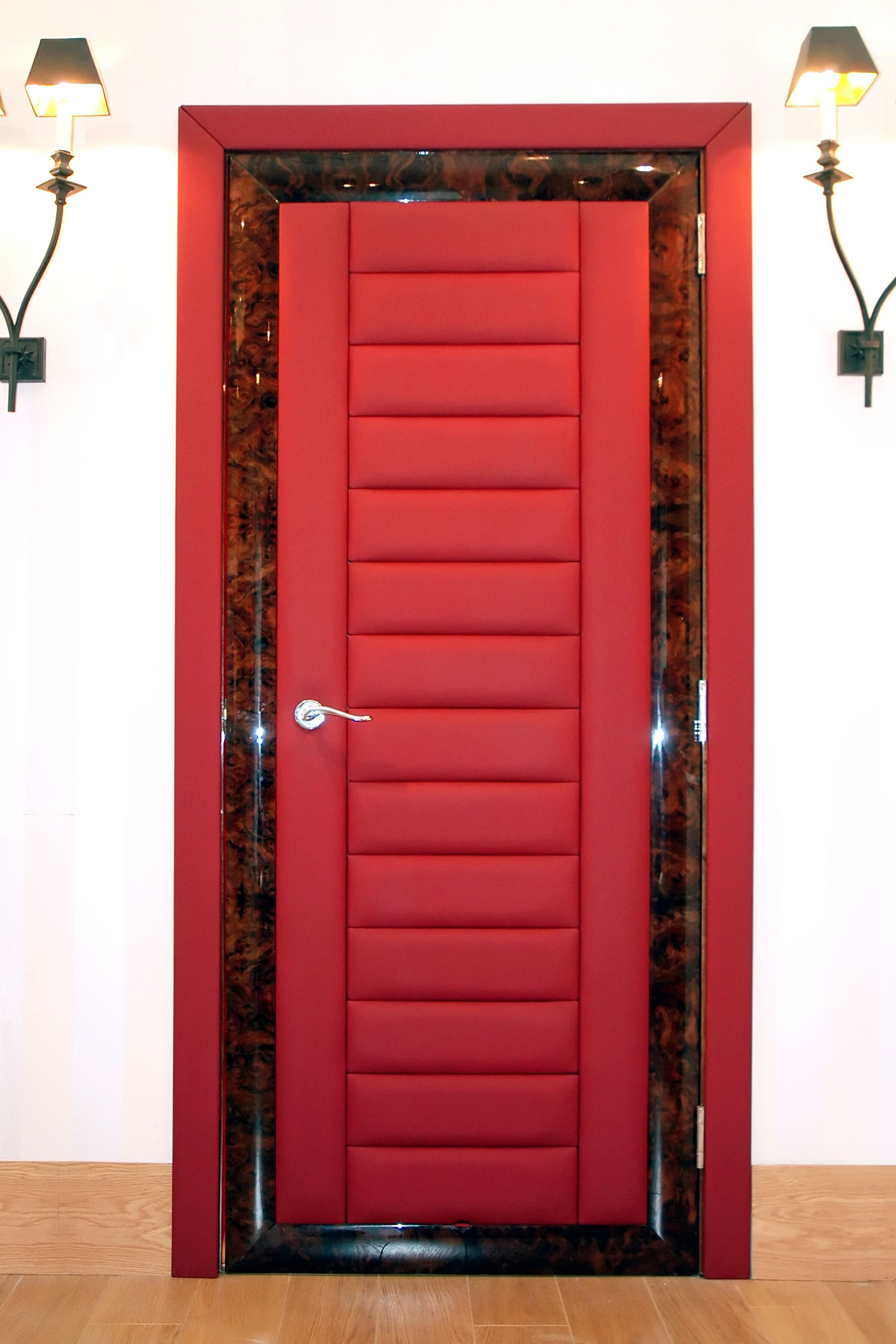Bespoke Internal Leather Doors From Solid