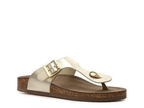Madden Girl Boise Metallic Flat Sandal | DSW