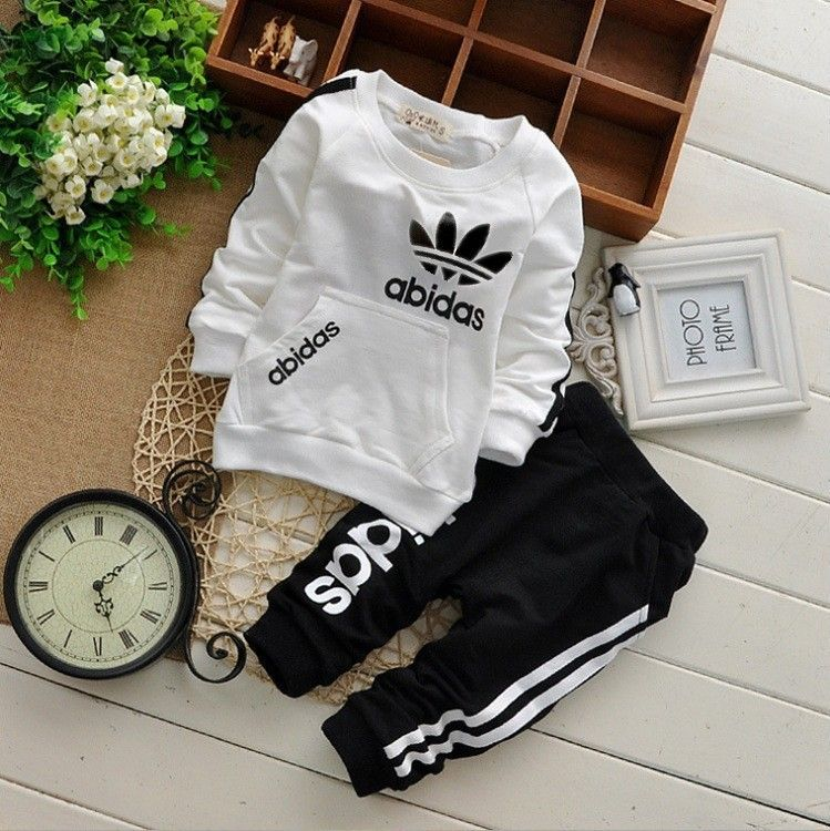 Find More Clothing Sets Information About Vestidos Spring Autumn Cotton Long Sleeves TrackSuit Children Sport Baby Boys Girls T Shirt Pants