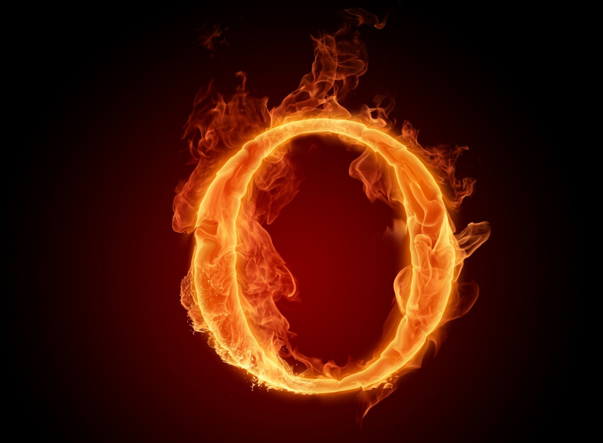 Letter Lit Wallpaper Fire Flame O Hd Wallpaper In 2019