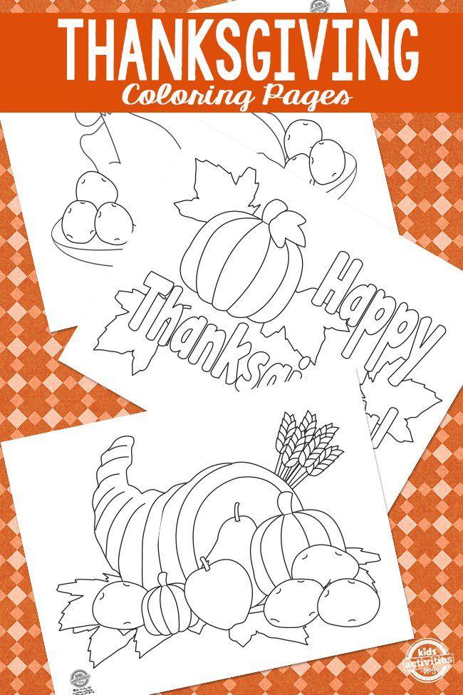 Thanksgiving Coloring Pages | Acción, Gracias y Escuela