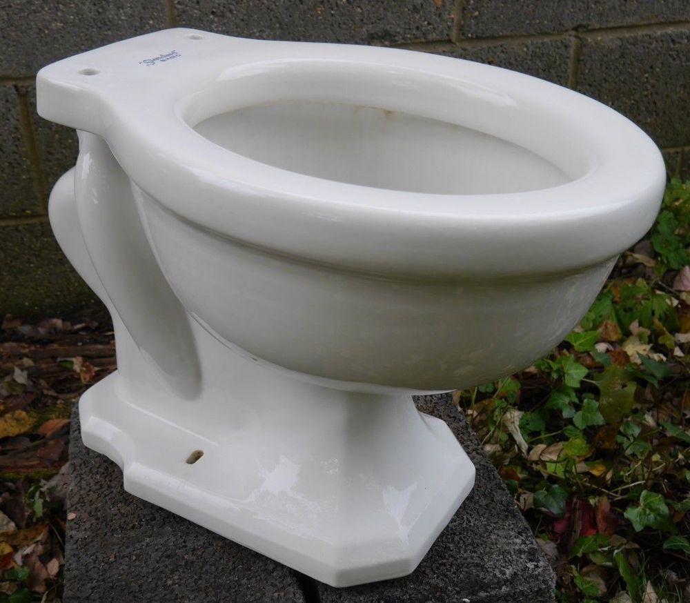 Antique Vintage American Standard Siacto Rear Spud Toilet Bowl