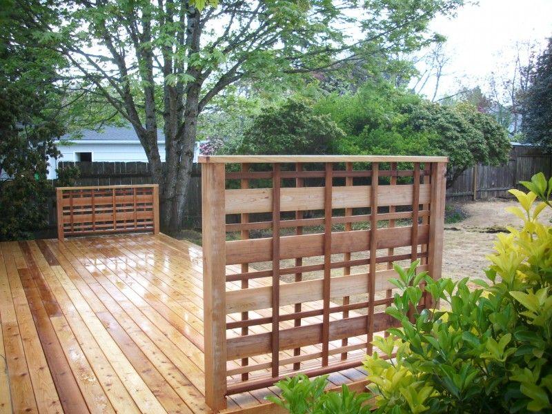 Cedar deck with custom lattice deck with lattice privacy for Lattice privacy panels for decks