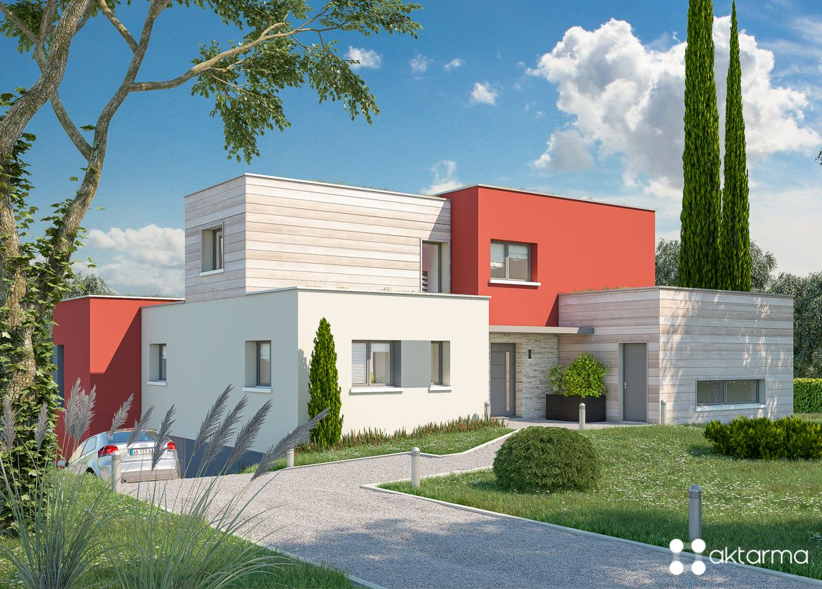 Cubic French house in 2019 | Maison | House styles, House ...